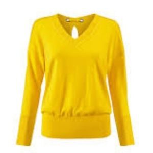 Cabi canary yellow pullover sweater